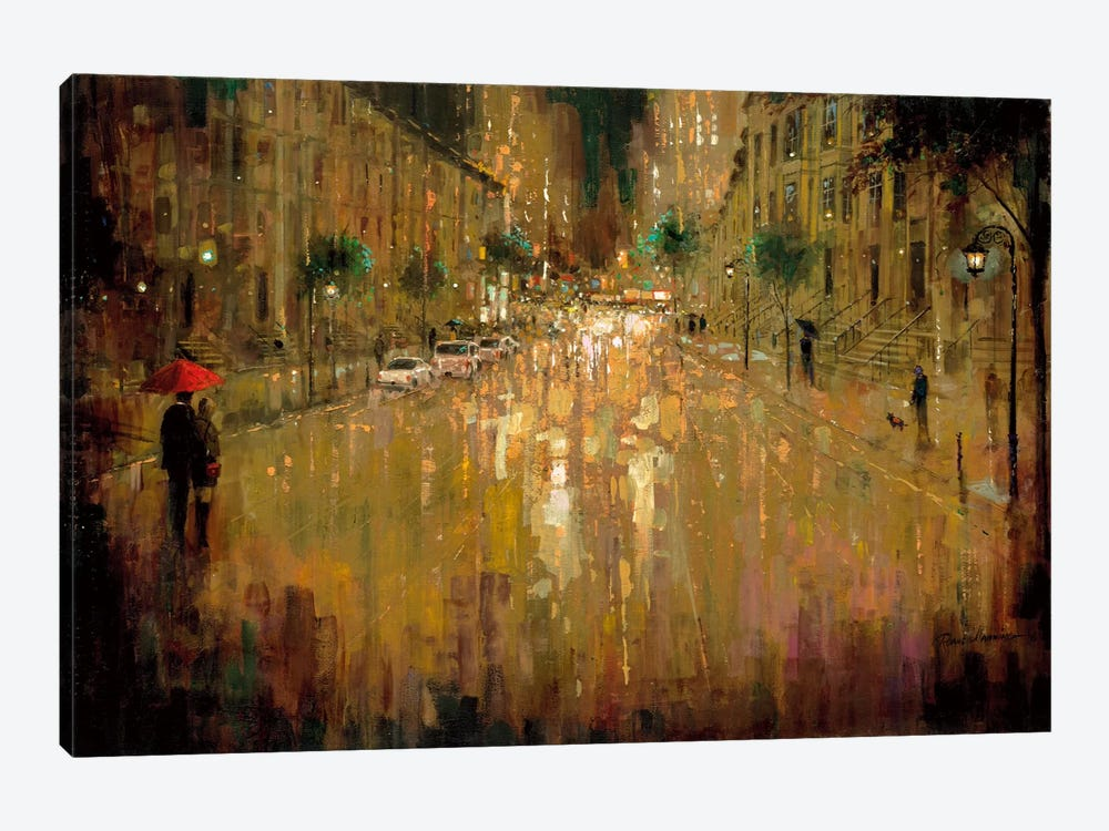 Brownstone Romance by Ruane Manning 1-piece Canvas Wall Art