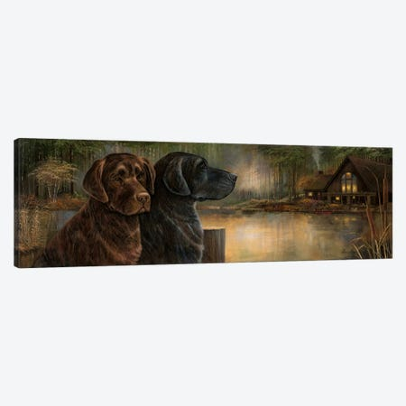 Loyal Companion Canvas Print #RUA122} by Ruane Manning Canvas Art Print