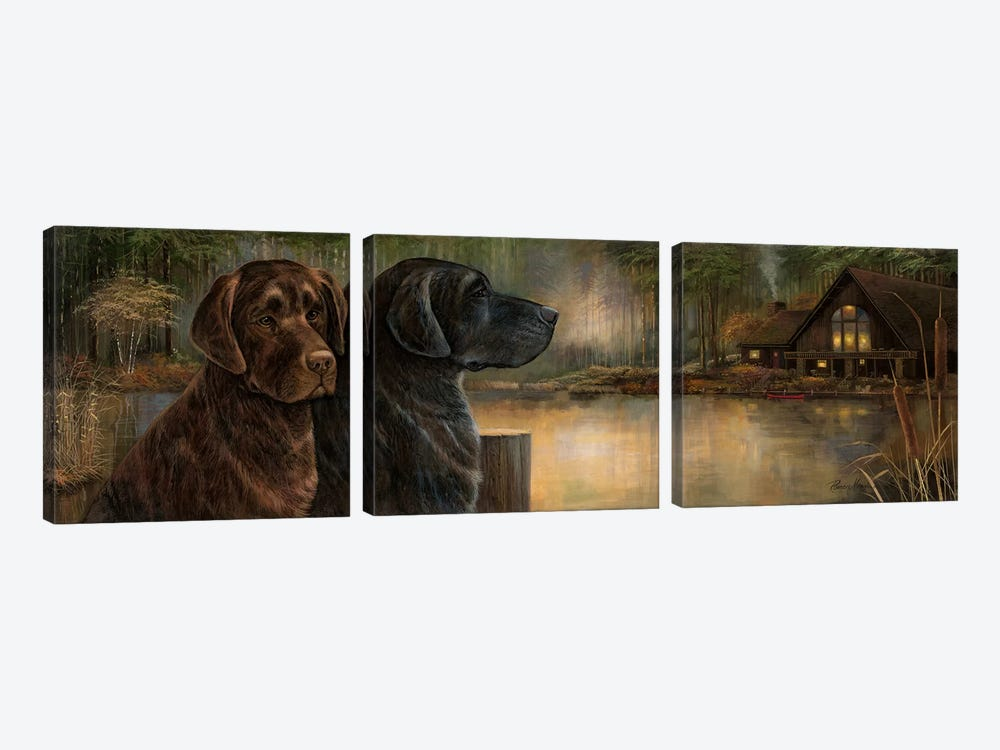 Loyal Companion by Ruane Manning 3-piece Art Print