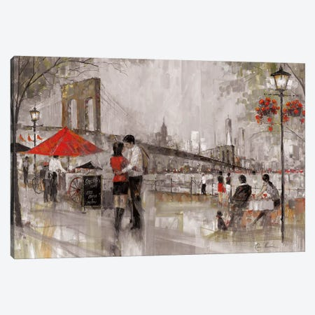 New York Romance Canvas Print #RUA124} by Ruane Manning Canvas Artwork