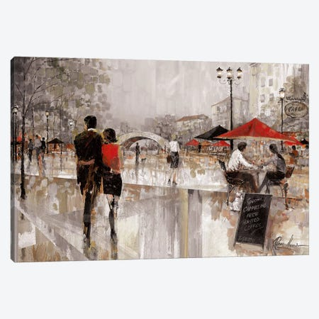 Riverwalk Charm II Canvas Print #RUA127} by Ruane Manning Canvas Art