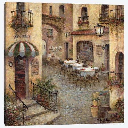 Buon Appetito I Canvas Print #RUA12} by Ruane Manning Canvas Artwork