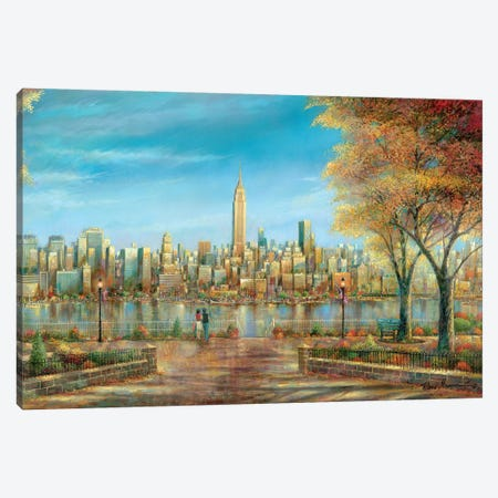New York View Canvas Print #RUA130} by Ruane Manning Canvas Art