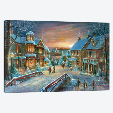 Home for the Holidays Canvas Print #RUA132} by Ruane Manning Canvas Art