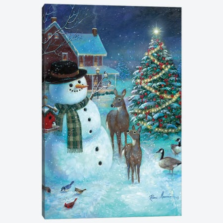 Frosty and Friends Canvas Print #RUA133} by Ruane Manning Canvas Artwork