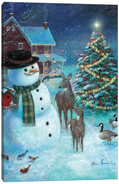 Frosty and Friends Canvas Art Print