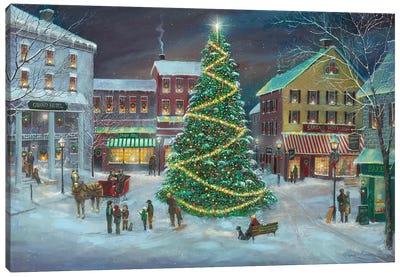 Village Square Canvas Art Print