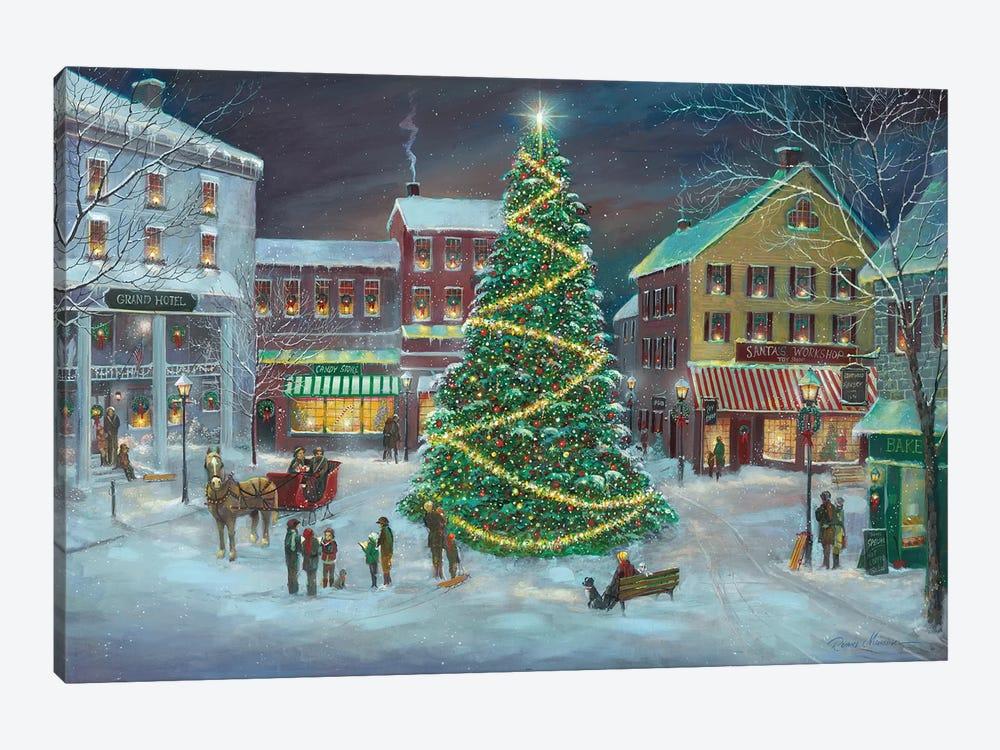 Village Square by Ruane Manning 1-piece Canvas Art