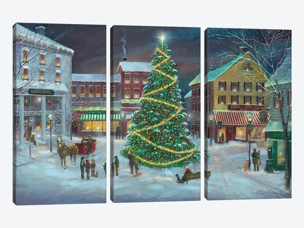 Village Square by Ruane Manning 3-piece Canvas Artwork