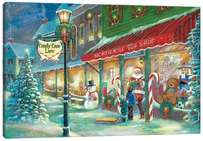 Candy Cane Lane Canvas Art Print