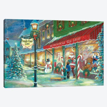 Candy Cane Lane Canvas Print #RUA135} by Ruane Manning Canvas Print