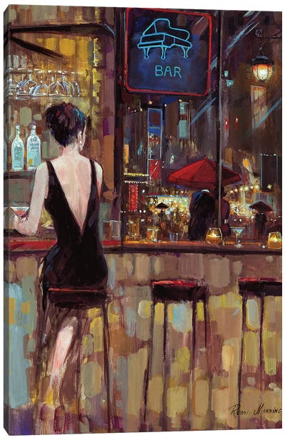 Piano Bar Canvas Art Print