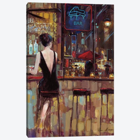 Piano Bar Canvas Print #RUA136} by Ruane Manning Canvas Print
