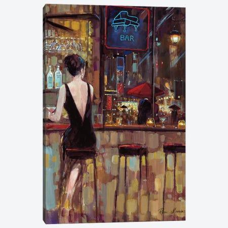 Piano Bar Canvas Print #RUA136} by Ruane Manning Canvas Print