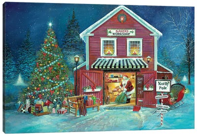 Santa's Workshop Canvas Art Print