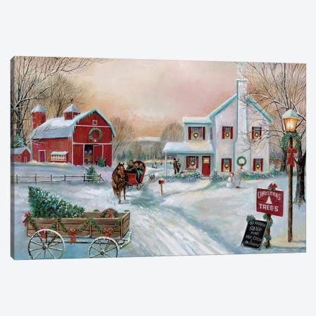 Christmas Tree Farm Canvas Print #RUA139} by Ruane Manning Canvas Artwork