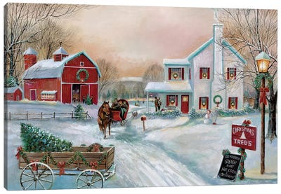 Christmas Tree Farm Canvas Art Print