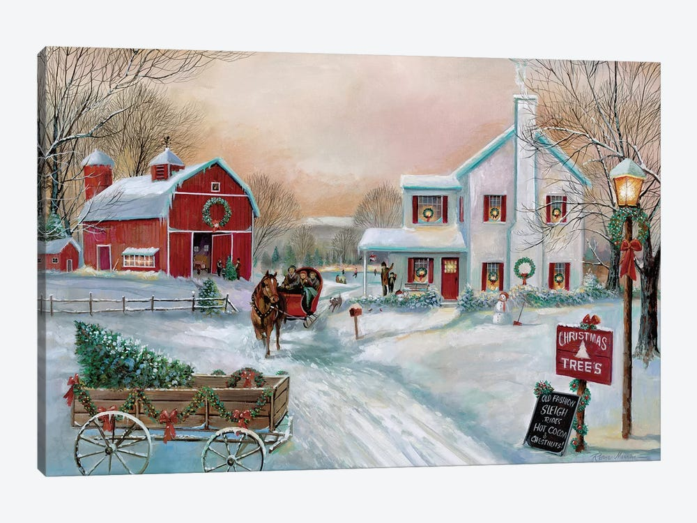 Christmas Tree Farm by Ruane Manning 1-piece Art Print