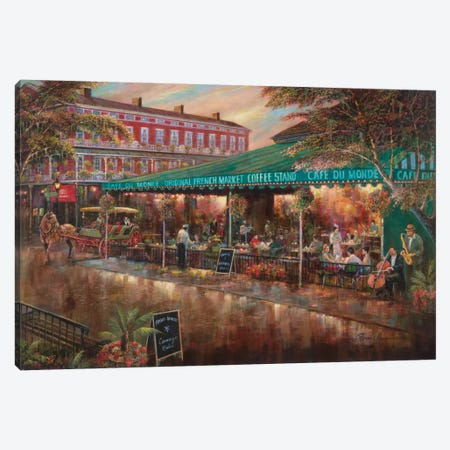 Café Du Monde Canvas Print #RUA13} by Ruane Manning Canvas Art