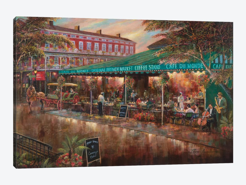 Café Du Monde by Ruane Manning 1-piece Canvas Artwork