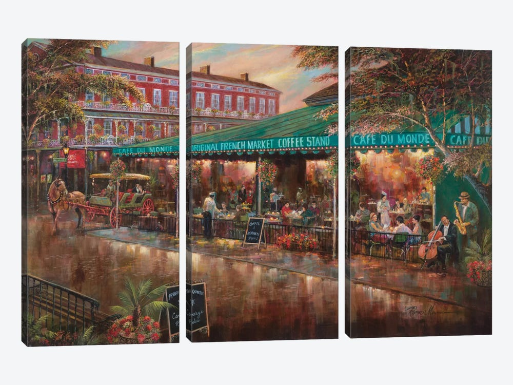 Café Du Monde by Ruane Manning 3-piece Canvas Artwork
