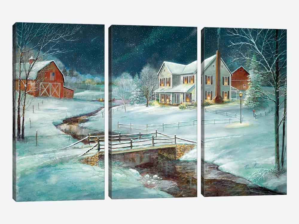 Winter Serenity by Ruane Manning 3-piece Art Print