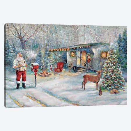 Santa's Hideaway Canvas Print #RUA141} by Ruane Manning Canvas Print