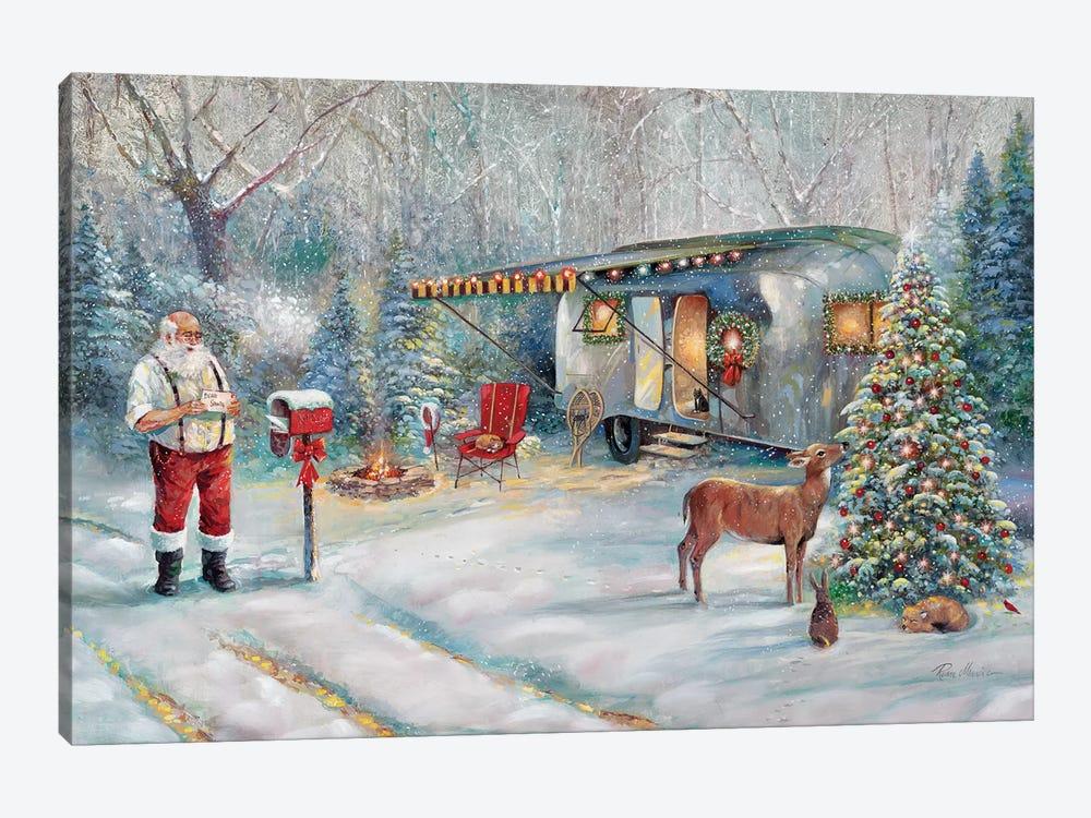 Santa's Hideaway by Ruane Manning 1-piece Canvas Wall Art