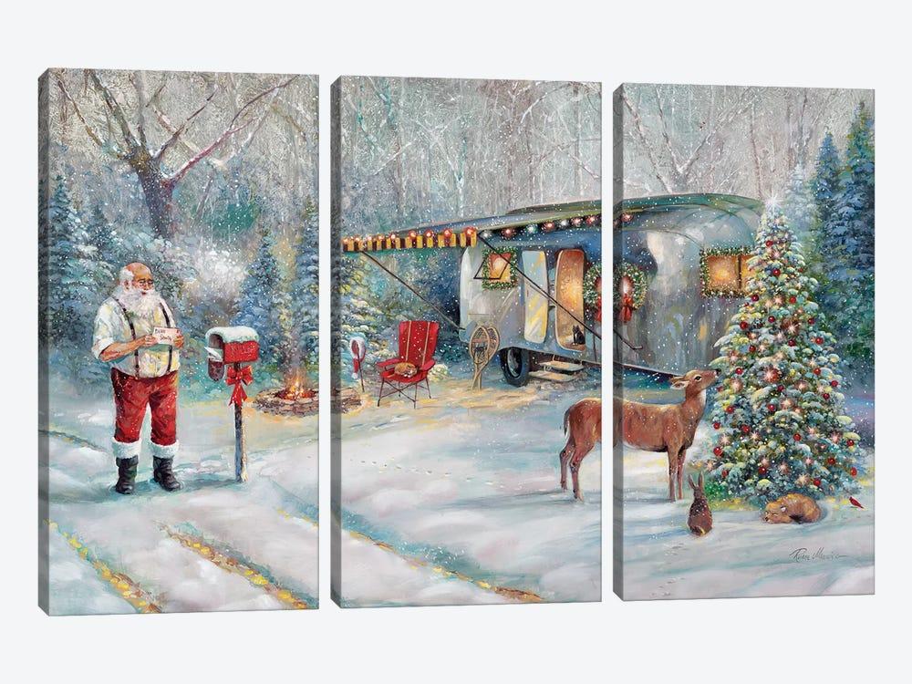 Santa's Hideaway by Ruane Manning 3-piece Canvas Art