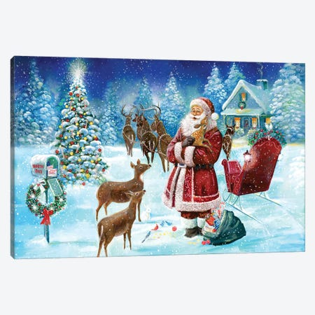 North Pole Canvas Print #RUA144} by Ruane Manning Canvas Wall Art
