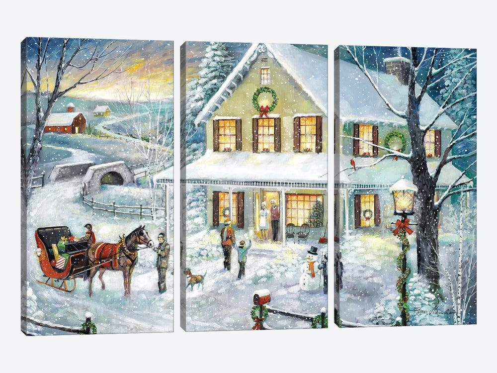 Christmas Visit by Ruane Manning 3-piece Art Print
