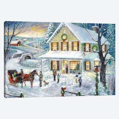 Christmas Visit Canvas Print #RUA146} by Ruane Manning Canvas Artwork