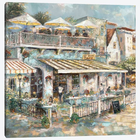 Rooftop Café Detail I Canvas Print #RUA147} by Ruane Manning Canvas Artwork