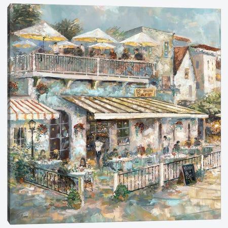 Rooftop Café Detail I Canvas Print #RUA147} by Ruane Manning Canvas Artwork