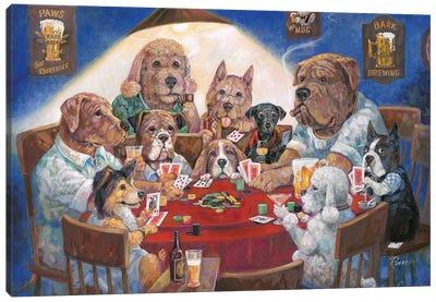 Poker Dogs Canvas Art Print