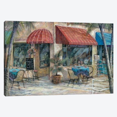 Café Of The Arts Canvas Print #RUA14} by Ruane Manning Art Print