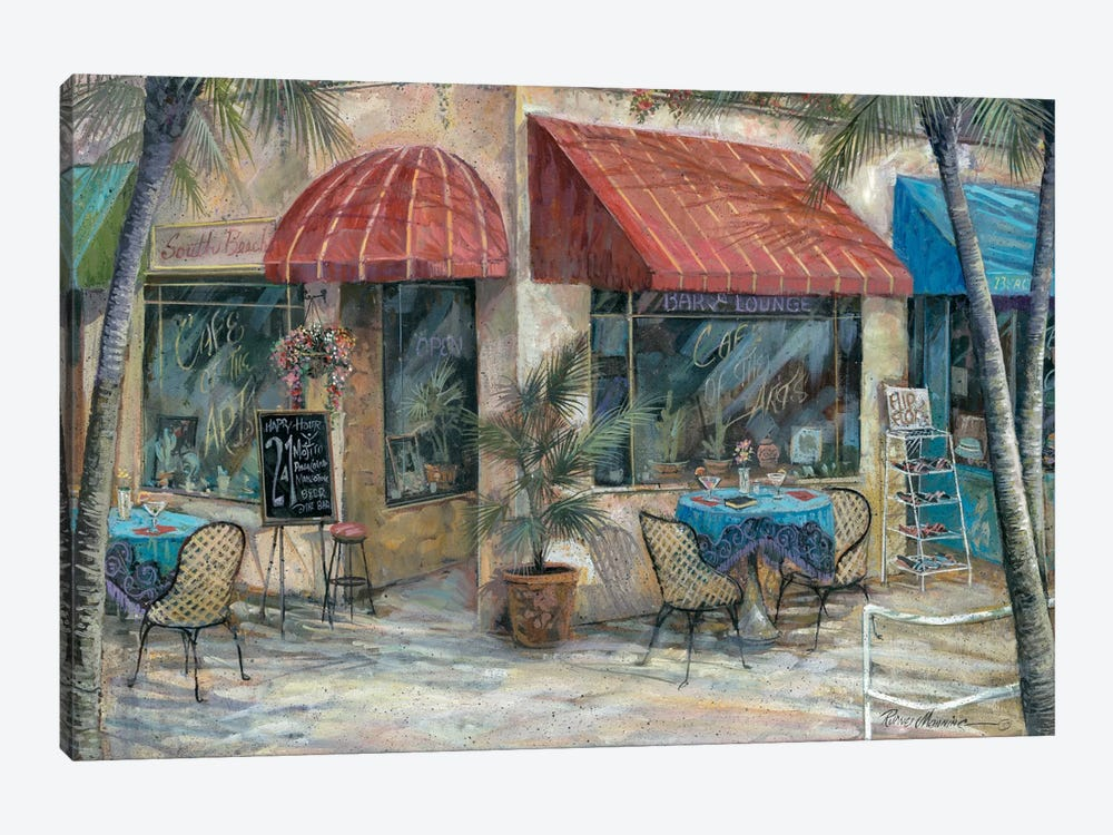 Café Of The Arts by Ruane Manning 1-piece Canvas Print