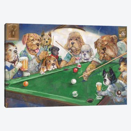 Pool Dogs Canvas Print #RUA150} by Ruane Manning Canvas Art