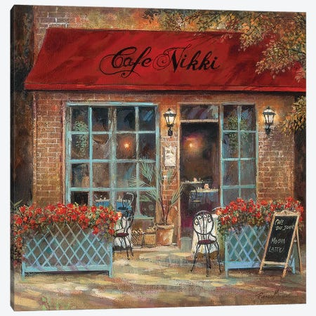Café Nikki Canvas Print #RUA151} by Ruane Manning Canvas Artwork