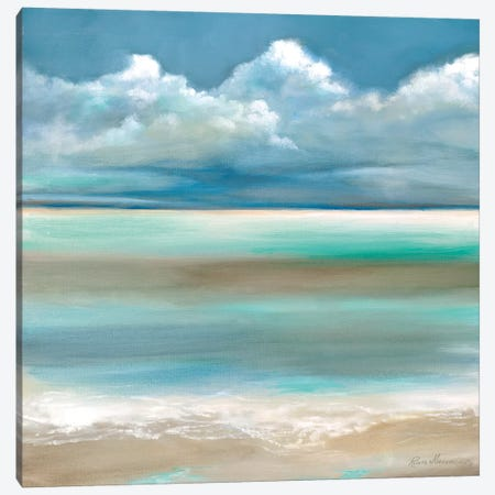 Tranquility by the Sea I Canvas Print #RUA158} by Ruane Manning Canvas Wall Art