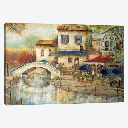 Arthur's By the Canal Canvas Print #RUA161} by Ruane Manning Canvas Print