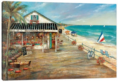Boardwalk Café Canvas Art Print