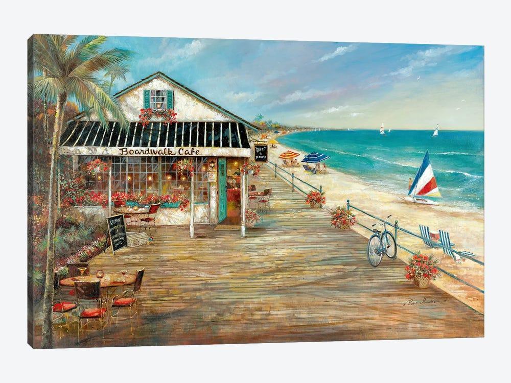 Boardwalk Café by Ruane Manning 1-piece Art Print