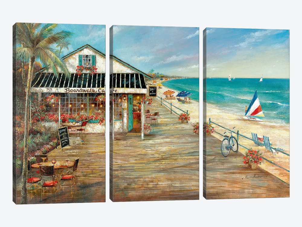 Boardwalk Café by Ruane Manning 3-piece Art Print