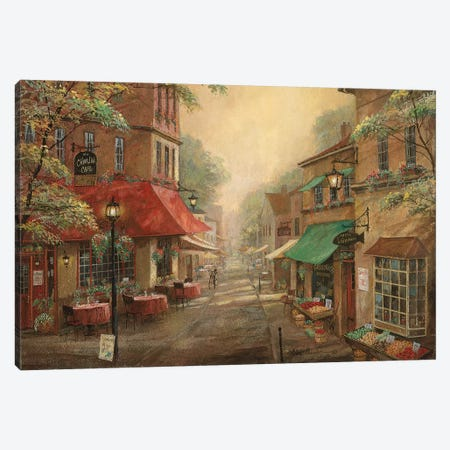 Charlie's Café Canvas Print #RUA165} by Ruane Manning Canvas Wall Art