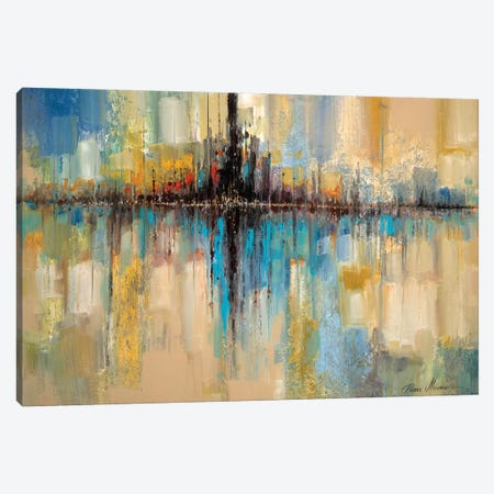 City Lights Canvas Print #RUA166} by Ruane Manning Canvas Wall Art
