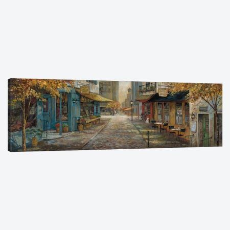 Embracing City Charm Canvas Print #RUA168} by Ruane Manning Canvas Print
