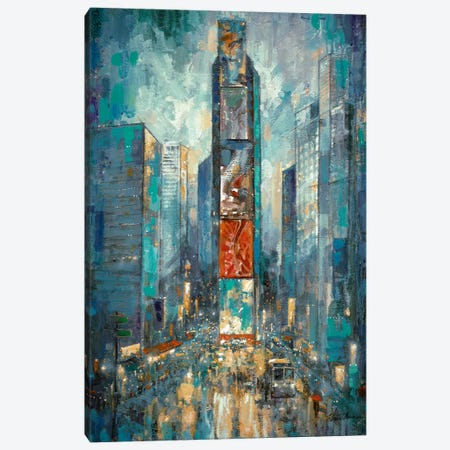 City Of Lights Canvas Print #RUA16} by Ruane Manning Canvas Art Print