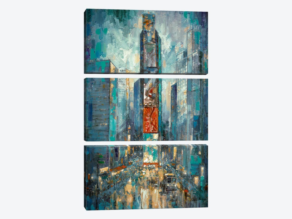 City Of Lights by Ruane Manning 3-piece Canvas Art Print