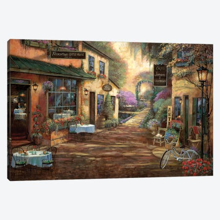 French Town Canvas Print #RUA172} by Ruane Manning Canvas Wall Art